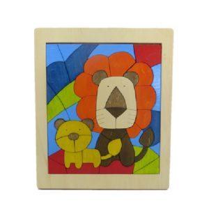親子ライオンパズル(P-028-001)