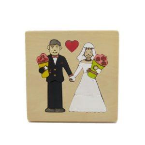 2段パズル・結婚式(P-028-003)